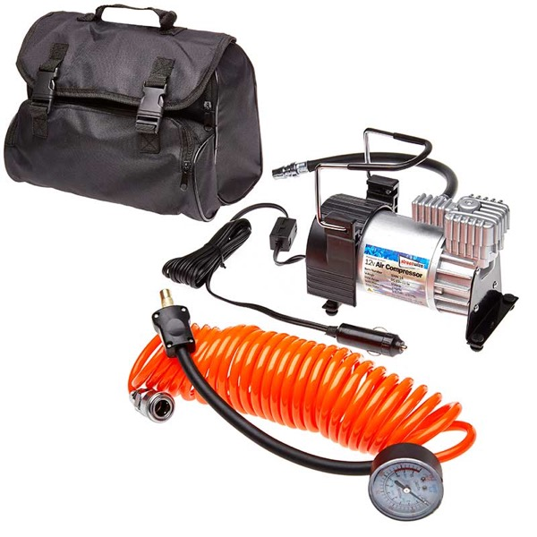 Kruga Air Compressor with Orange LeadGauge