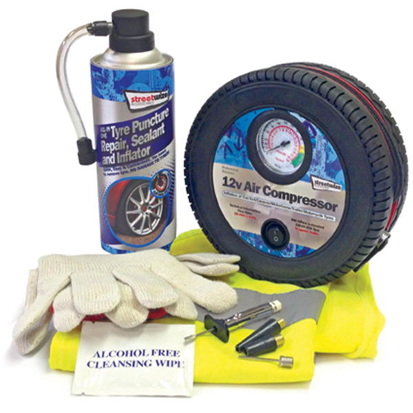 Streetwize Tyre Sealer & Inflator Kit