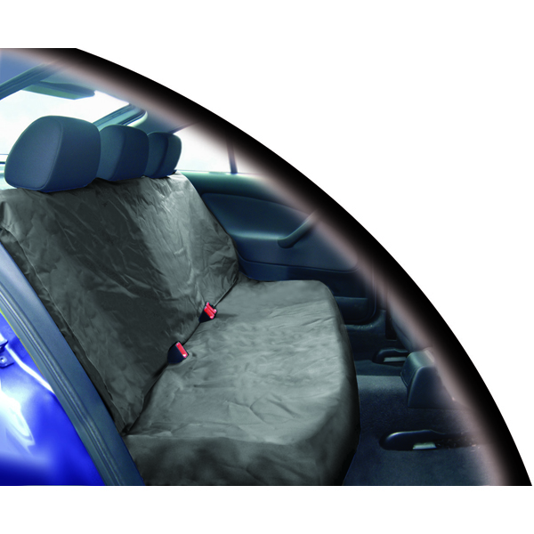 Heavy Duty Waterproof Single Rear Seat Protector in Grey
