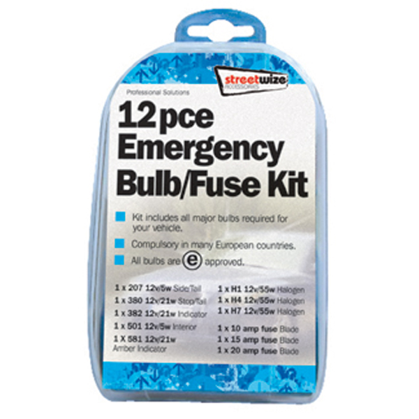 11 piece Emergency Bulb & Fuse Kit