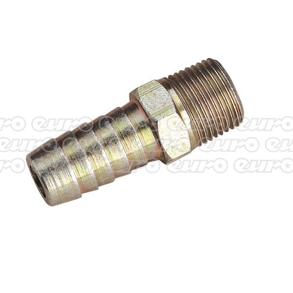 "Image of AC42 Male Screwed Tail Piece 3/8""BSPT - 1/2"" Hose Pack of 5"