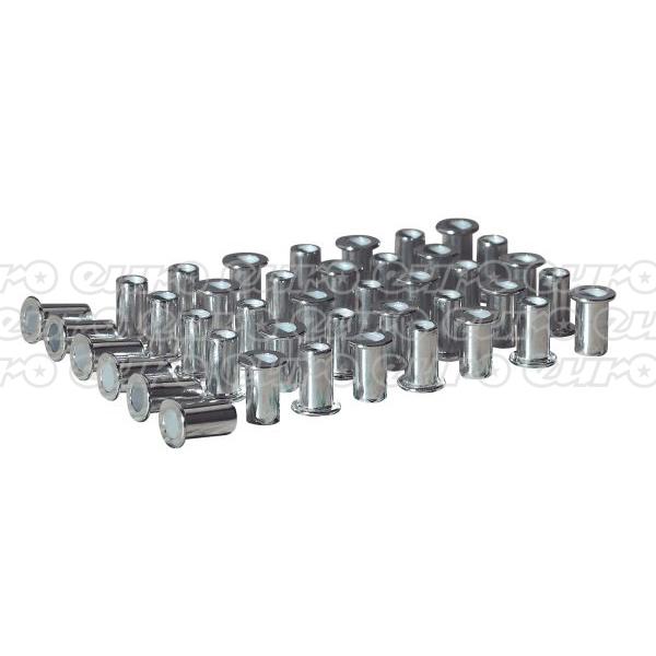 AK3963 Rivet Nut Flat Head Aluminium M5x0.8mm (0.52.5mm Cap) 50 Pack