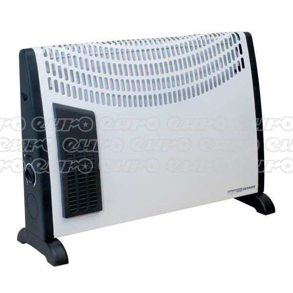 CD2005T Convector Heater 2000W 3 Heat Settings Thermostat Turbo Fan