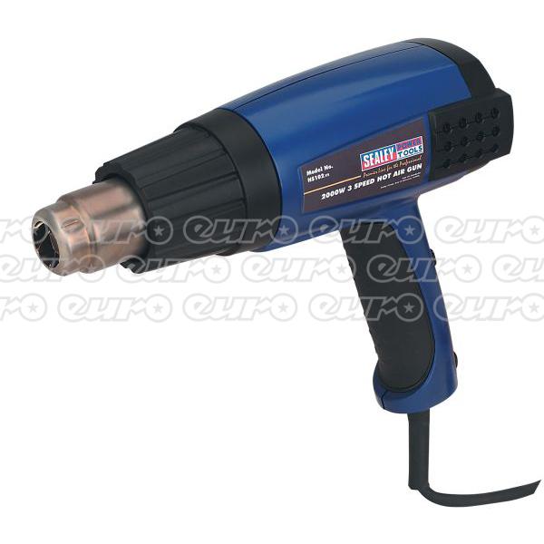 HS102 Hot Air Gun 2000W 3Speed 50600 Deg C Variable Heat
