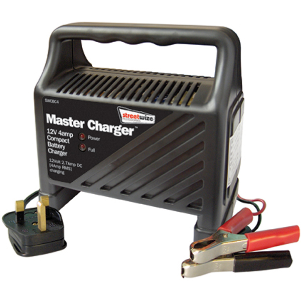 Streetwize 12v 4 Amp Compact Battery Charger