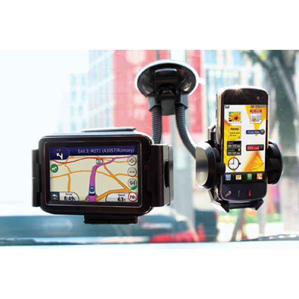 Twin Mobile Phone & Sat Nav Holder